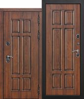 Входная морозостойкая дверь c ТЕРМОРАЗРЫВОМ 13 см Isoterma МДФ/МДФ Грецкий орех