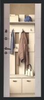 Сейф дверь Форпост Эверест Зеркало Белый Дуб