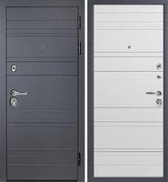 Дверь металлическая Сударь МД-39 Серый матовый / Белый матовый