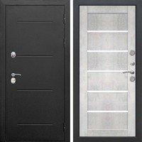 Входная металлическая дверь 11 см ISOTERMAВходная металлическая дверь 11 см ISOTERMA Букле чёрный Царга Бетон снежный