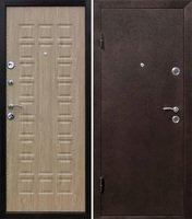 Металлическая сейф дверь КВАДРО ель карпатская